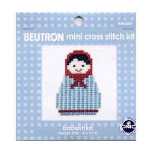 BEUTRON Cross Stitch Kit For Beginner Babushka 6x6cm