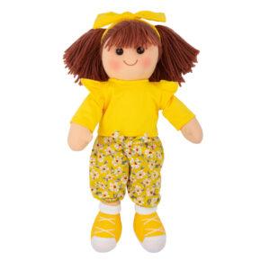 Hopscotch Lovely Soft Rag Doll Hattie Girl Dressed Doll Large 35cm