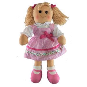 Hopscotch Soft Rag Doll Lulu Dressed Girl Doll Large 35cm
