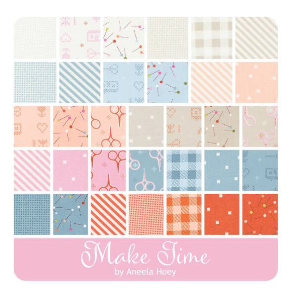 Moda Quilting Patchwork Charm Pack Make Time 5 Inch Sewing Fabrics
