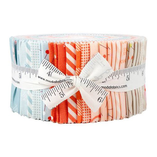 Moda Quilting Patchwork Jelly Roll Make Time 2.5 Inch Sewing Fabrics