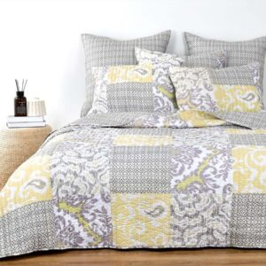 French Country Patchwork Bed Quilt Milan Coverlet Assorted Sizes
