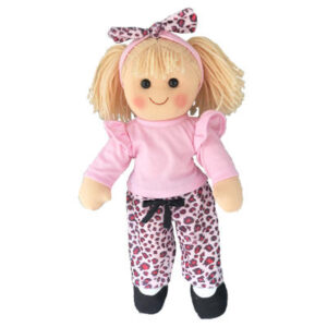 Hopscotch Lovely Soft Rag Doll Natalie Girl Dressed Doll Large 35cm