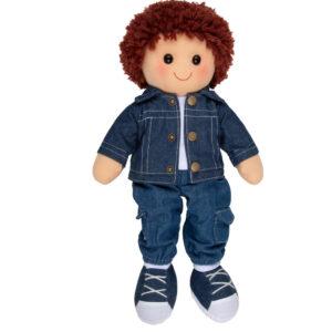 Hopscotch Lovely Soft Rag Doll Rory Boy Dressed Doll Large 35cm