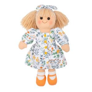 Hopscotch Lovely Soft Rag Doll Stella Girl Dressed Doll Large 35cm
