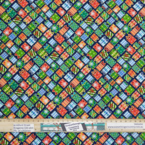 Quilting Patchwork Fabric Christmas Presents Allover 50x55cm FQ