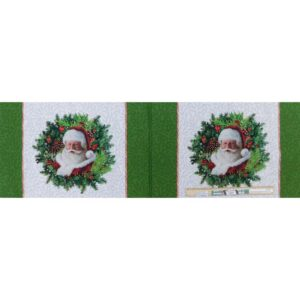 Patchwork Quilting Sewing Fabric Here's Santa Placemat Panel 35x110cm