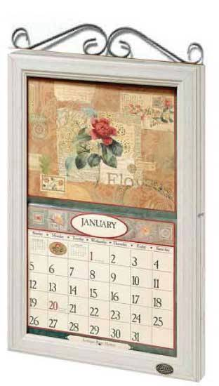2016 lang legacy calendar frame wooden scroll white new display your
