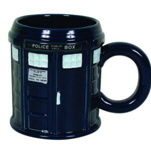 French Country Chic Kitchen Coffee Mugs Novelty Dr Who Police Box Blue New