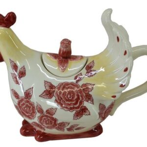 French Country Lovely Teapot Novelty CHOOK China Tea Pot Giftboxed