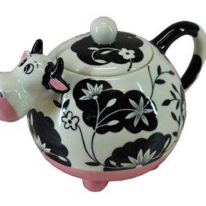 French Country Lovely Teapot Novelty COW China Tea Pot Giftboxed