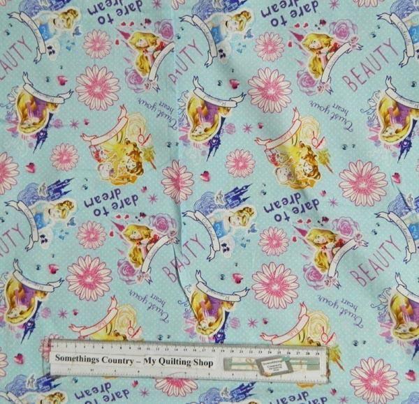 Quilting Patchwork Sewing Fabric DISNEY PRINCESSES CINDERELLA Material 50x55FQ New