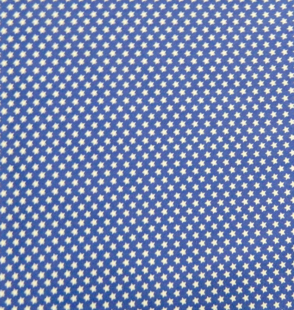Patchwork quilting sewing fabric blue with white stars for Star fabric australia