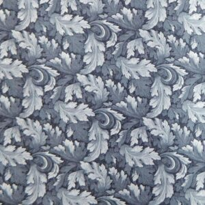 Patchwork Quilting Sewing Fabric MUMS LEAVES Blue Grey FQ 50x55CM New Material