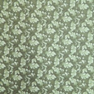 Patchwork Quilting Sewing Fabric MUMS LEAVES Rose Green FQ 50x55CM New Material