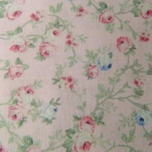 Patchwork Quilting Sewing Fabric SPRING ROMANCE Rosebuds Pink FQ 50x55cm New Material