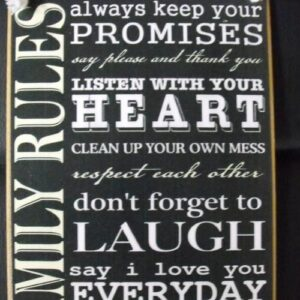 Home Décor Country Printed Quality Wooden Sign Beach House Rules