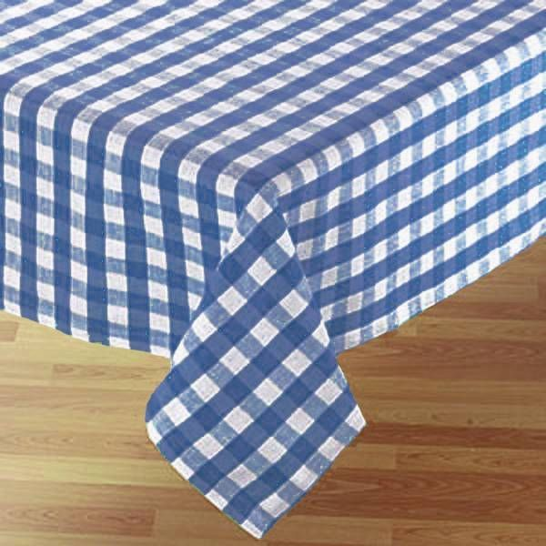 Country Style New Table Cloth BLUE GINGHAM Tablecloth Assorted Sizes Cotton  Kitchen
