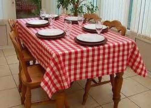 Country Style New Table Cloth RED GINGHAM Tablecloth Assorted Sizes New  Cotton Kitchen