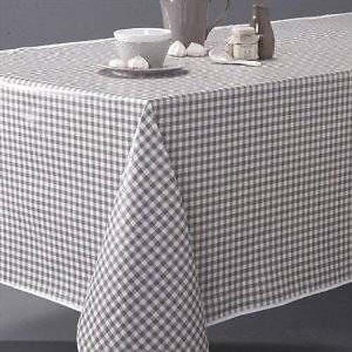 Country Style New Table Cloth Taupe Gingham Tablecloth Ort Size Cotton