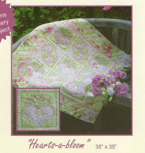 Quilting Sewing Quilt Pattern HEARTS A BLOOM Sally Giblin Rivendale Collection Pattern NEW