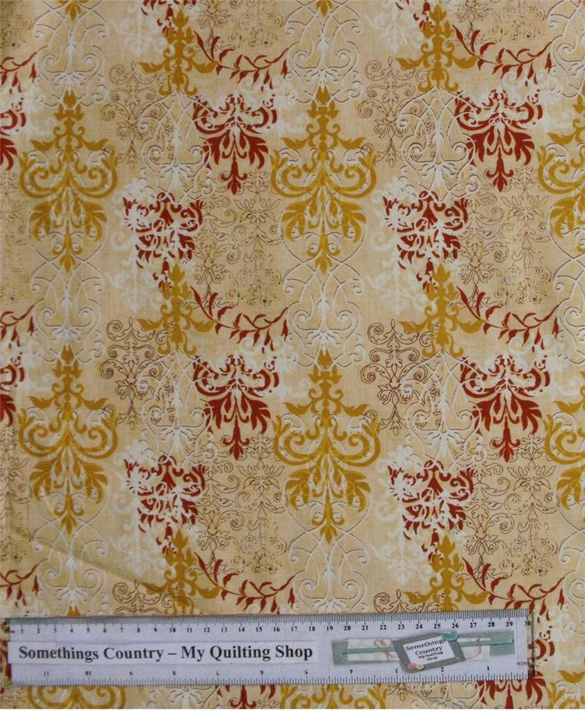 Patchwork quilting sewing fabric orange swirls tonal for Cotton quilting fabric