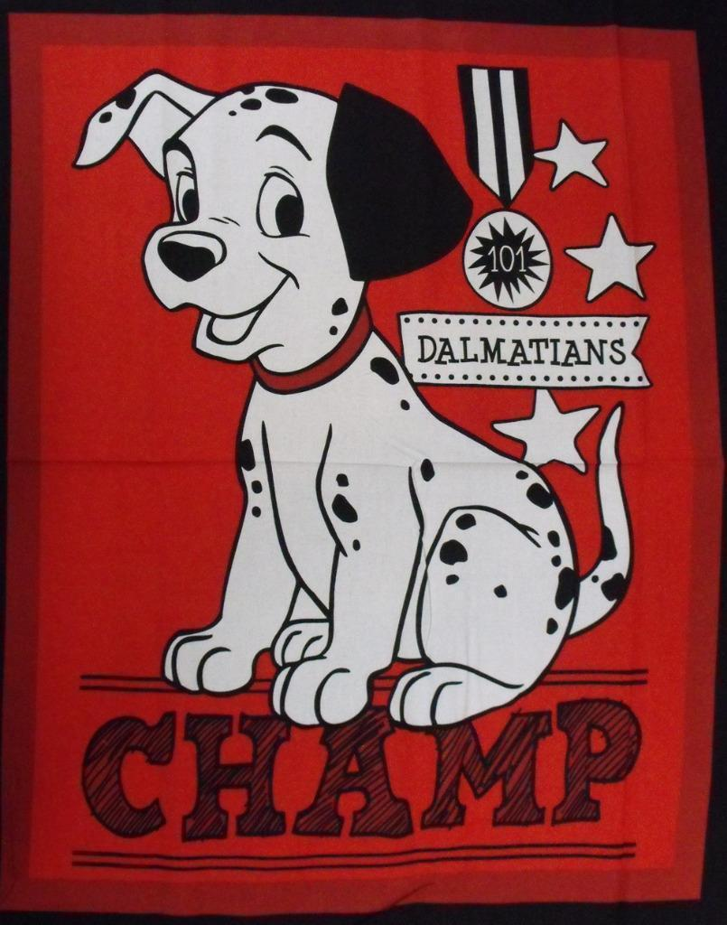 Quilting Patchwork Sewing Fabric DISNEY 101 DALMATIONS Quilt Panel 90x110cm New