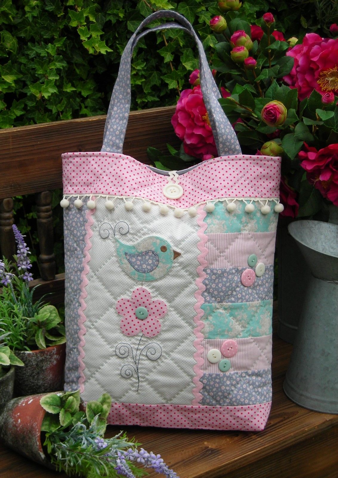 Quilting Sewing Bag Pattern TAIL FEATHER Sally Giblin Rivendale Collection NEW Pattern