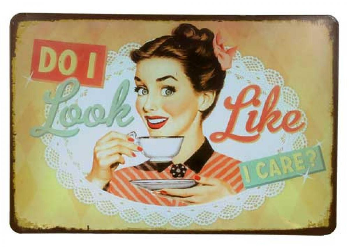 Tin Sign - French Country Vintage Inspired Wall Art, Look Like I ...
