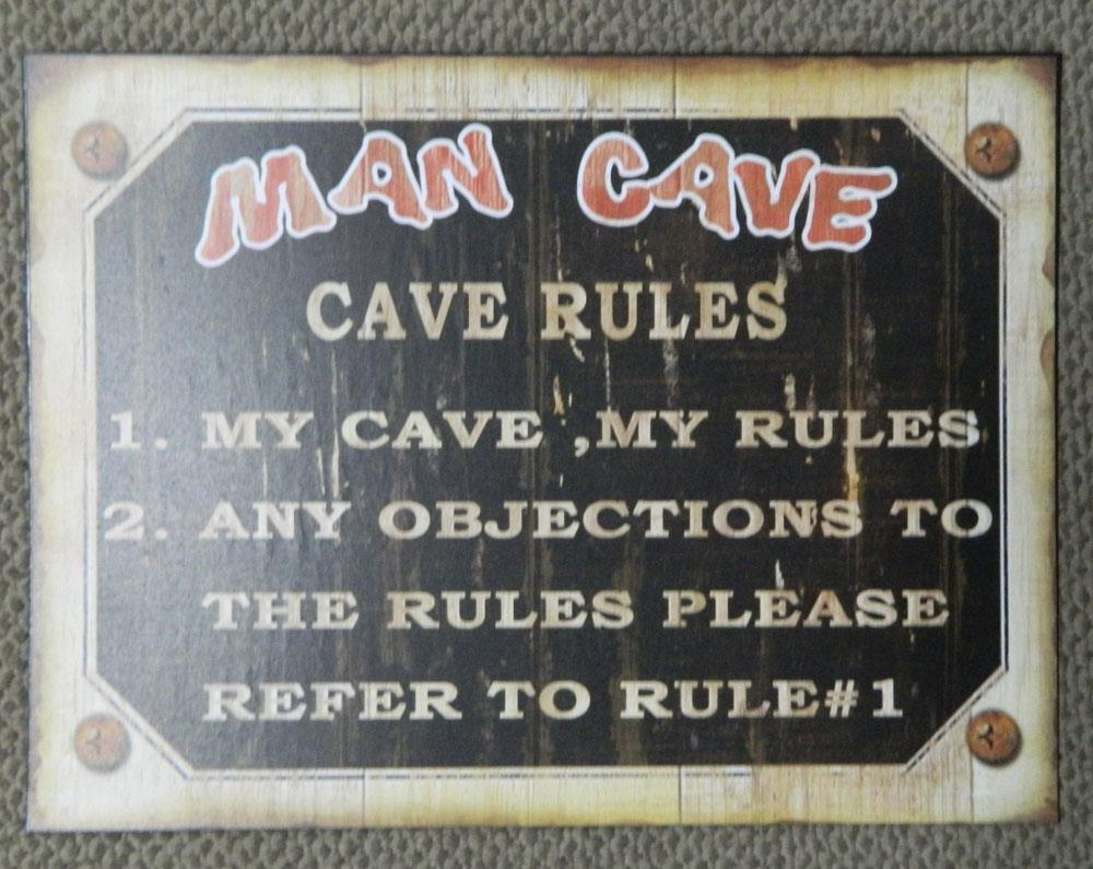 Man Cave Tin Signs : Free beer tomorrow retro tin sign for your man cave
