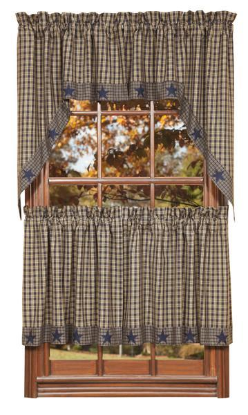 country star kitchen curtains country new curtain ruffled navy check kitchen 6202