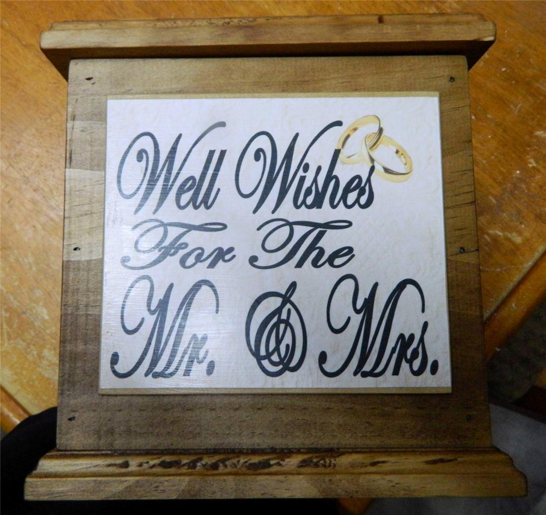 Wooden WISHING WELL Wedding Card Box, Engagement, Quality